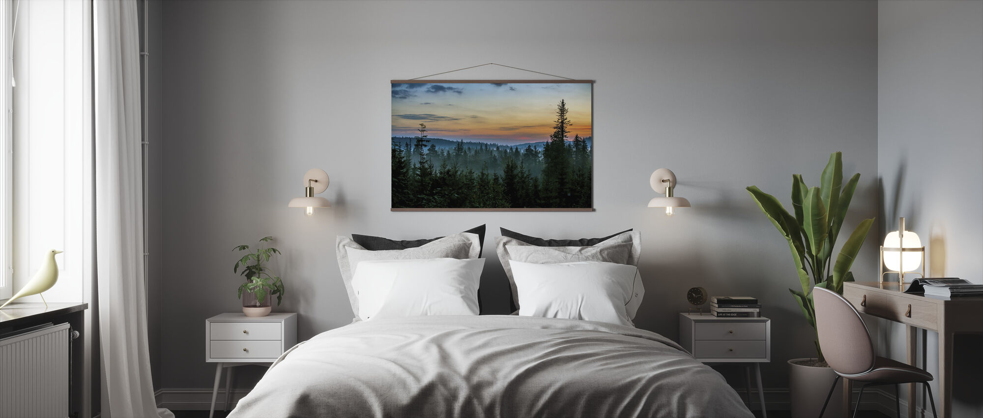 Early Morning in Fir Forest - Poster - Bedroom