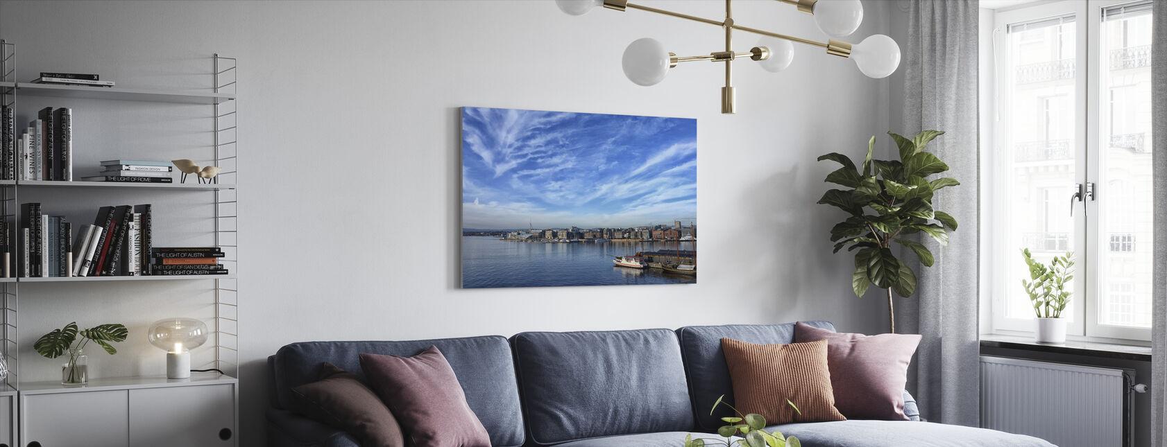 Oslo Harbor, Norway - Canvas print - Living Room