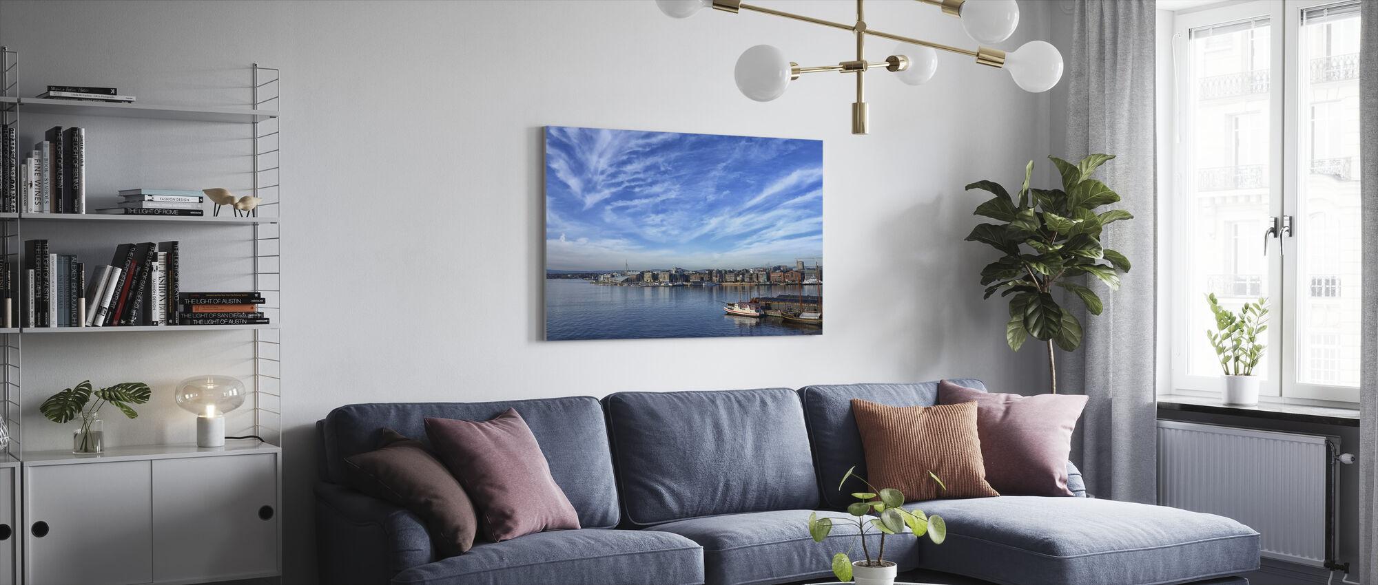 Oslo Harbor, Norge - Lerretsbilde - Stue