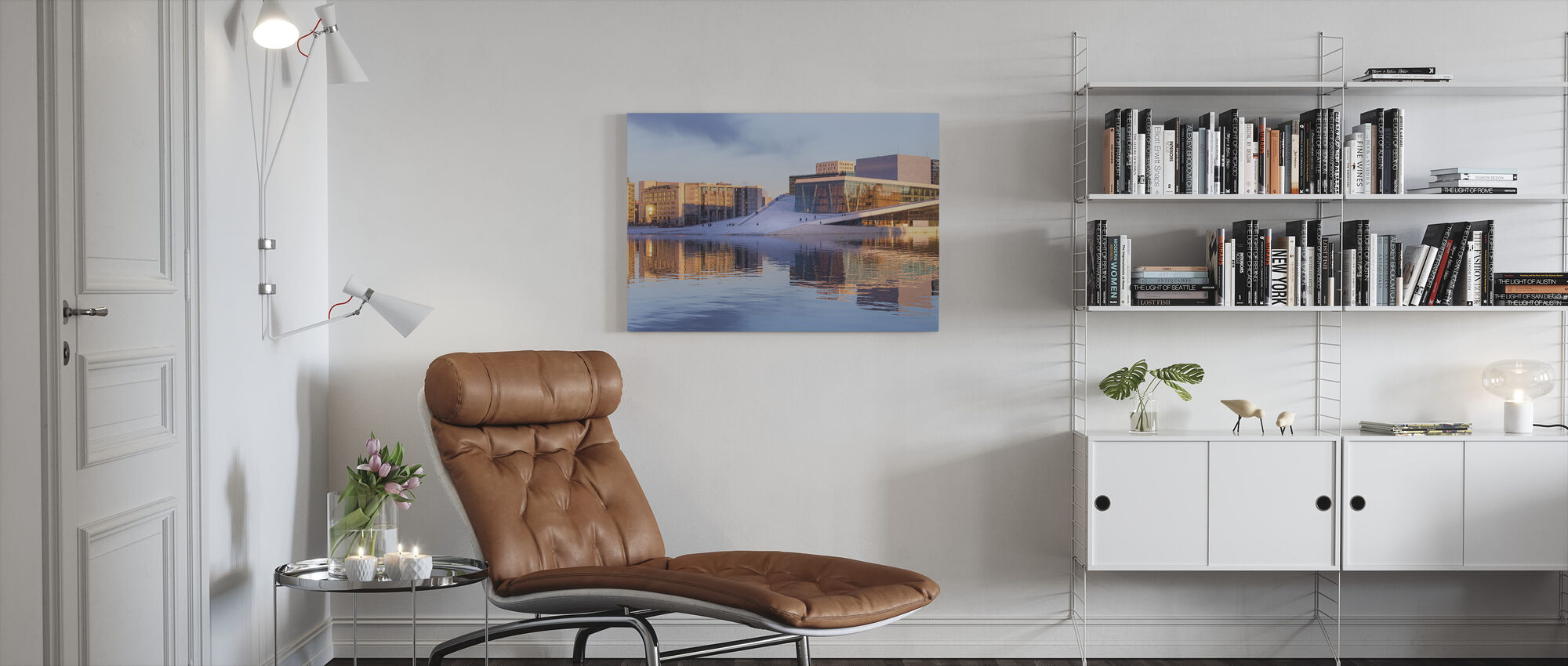 Cityscape of Oslo, Norway - Canvas print - Living Room
