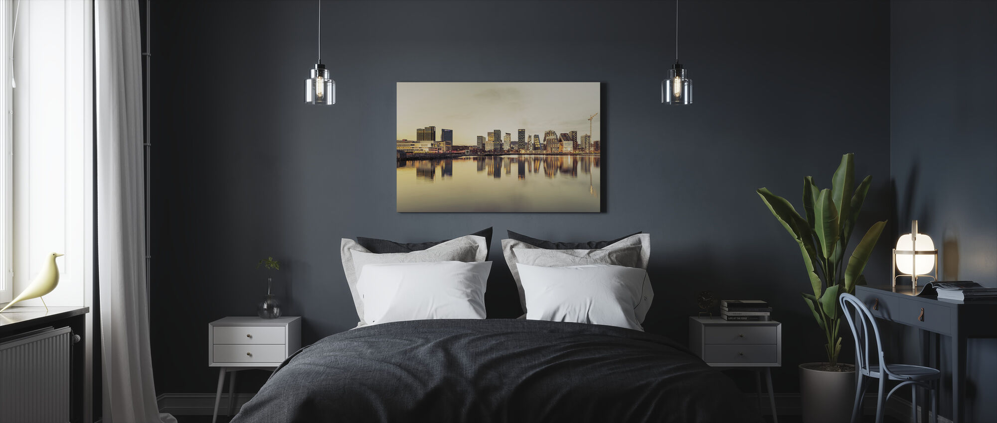 Oslo Skyline in Sunset - Canvas print - Bedroom