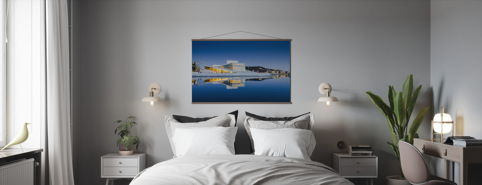 Oslo Opera House by Night - Poster - Bedroom