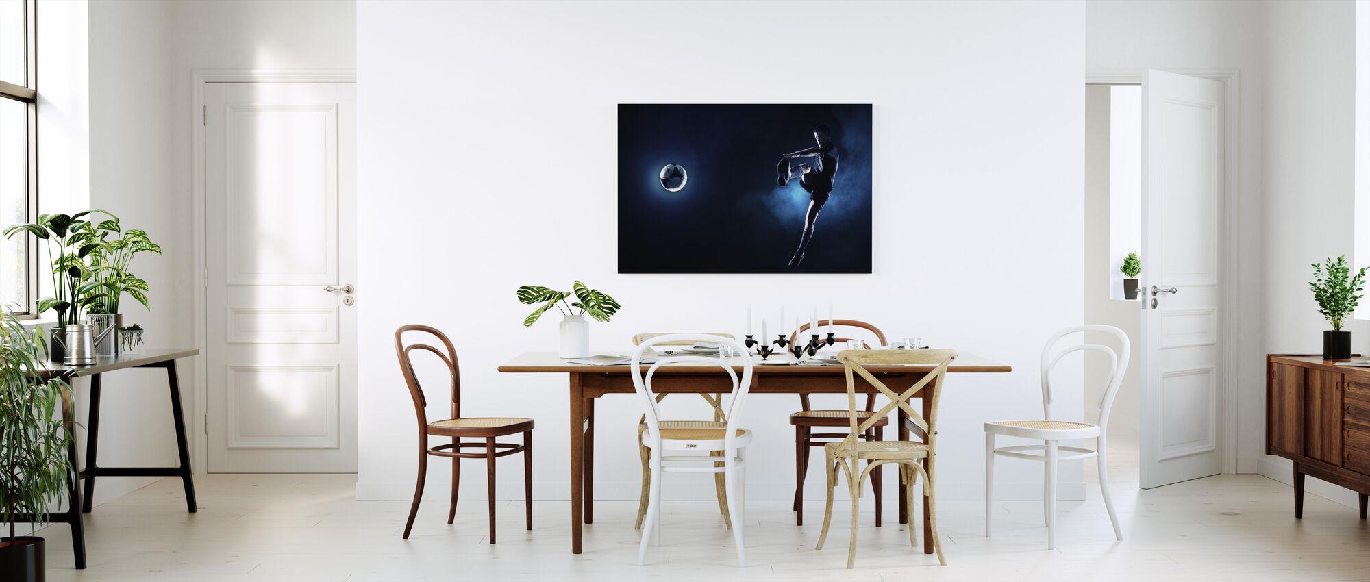Blauw Steel Voetbal - Canvas print - Keuken
