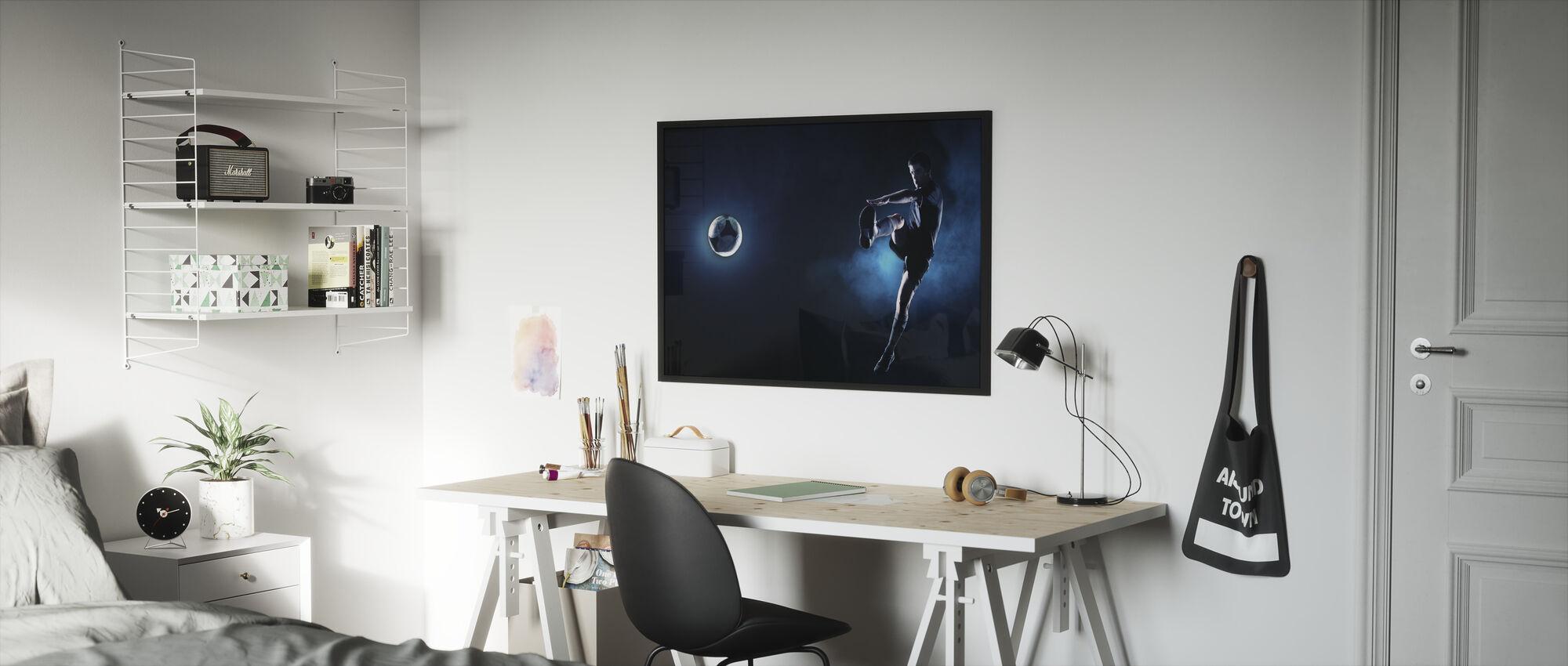 Blue Steel Soccer - Framed print - Kids Room
