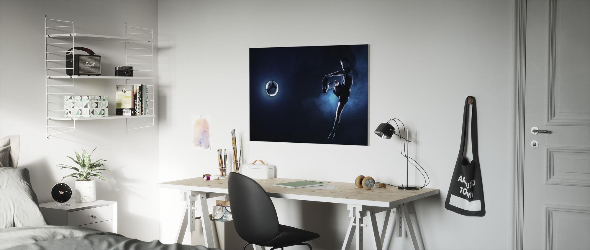Blue Steel Soccer - Canvas print - Kids Room