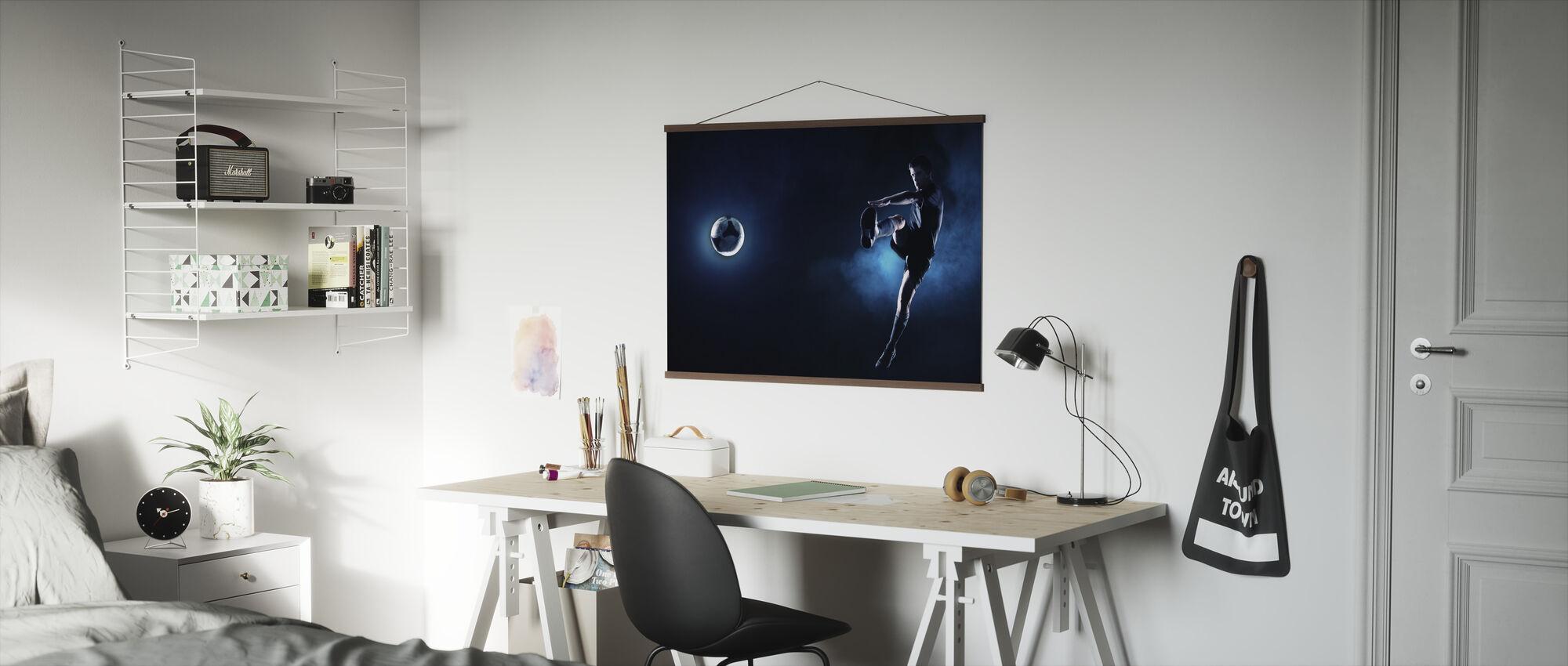 Blue Steel Soccer - Poster - Office