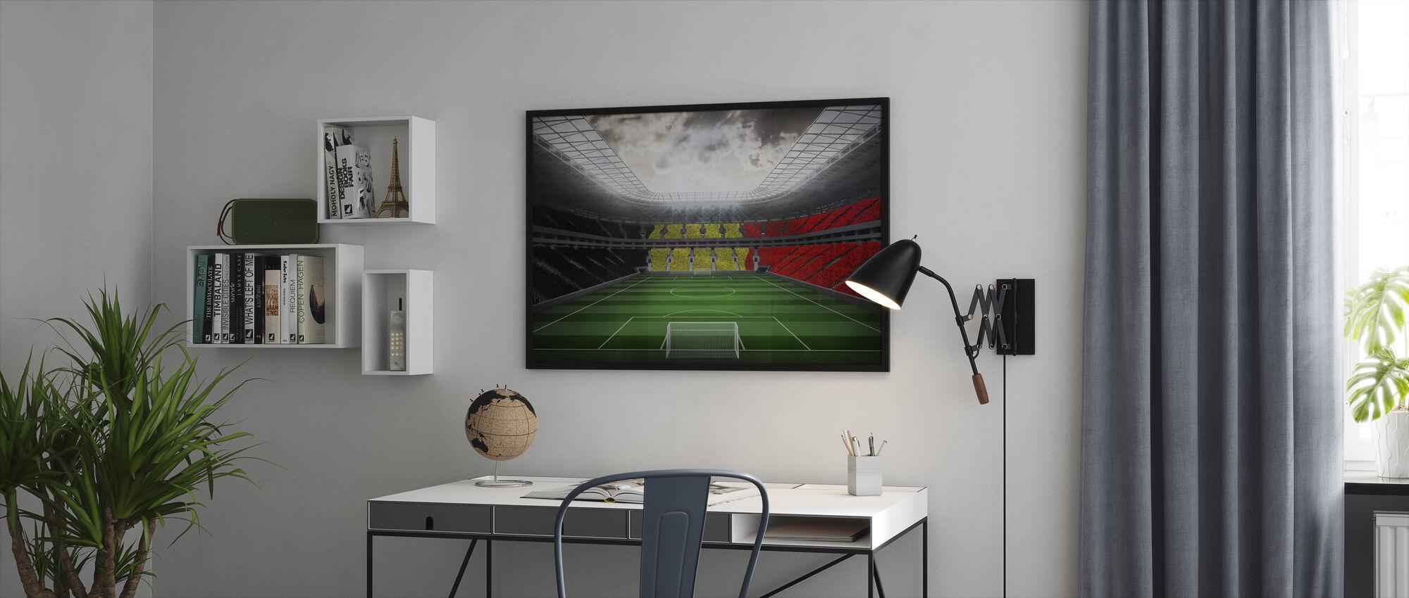 Giant Soccer Stadium - Framed print - Office