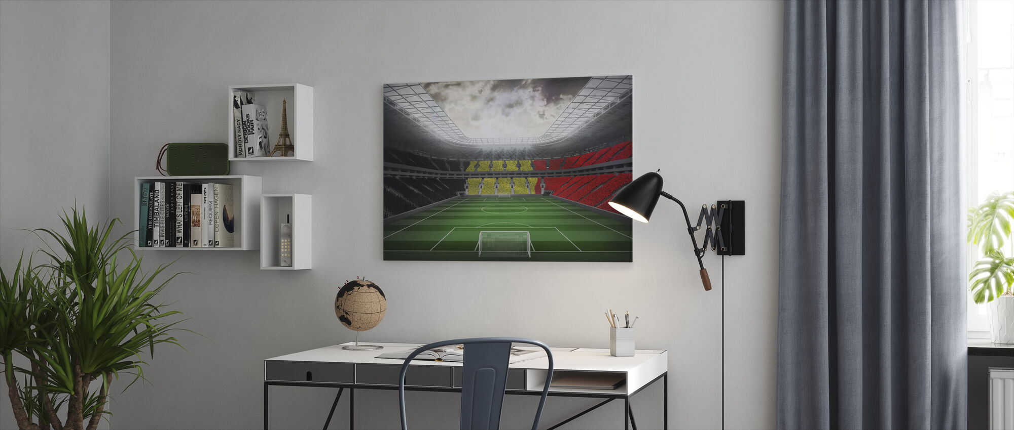 Giant Soccer Stadium - Canvas print - Office