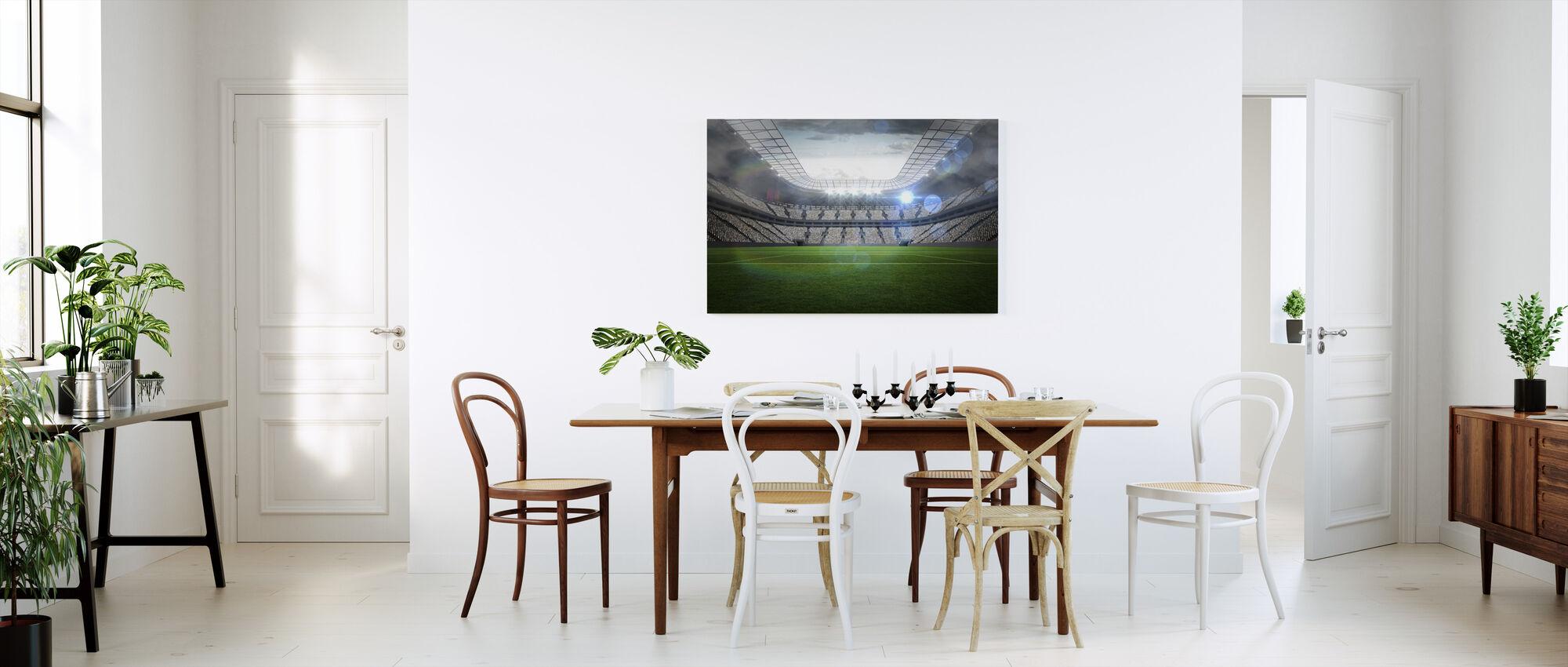 Fodbold Arena - Billede på lærred - Køkken