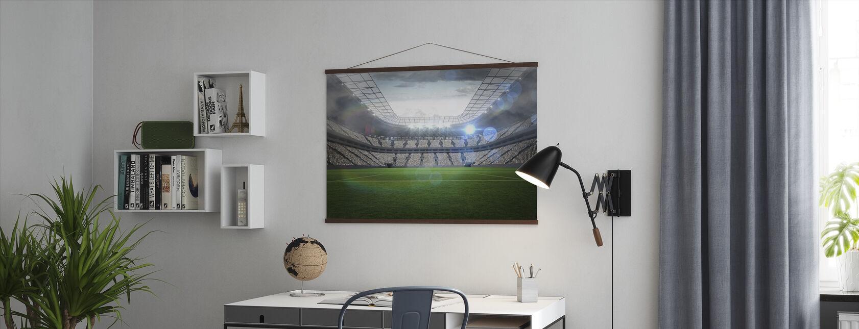 Voetbalstadion - Poster - Kantoor