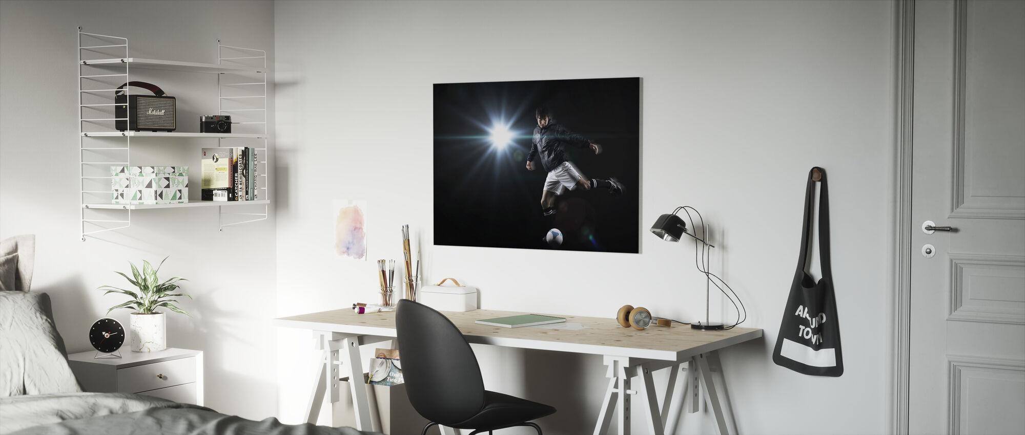 Spotlight Soccer Player - Canvas print - Kids Room