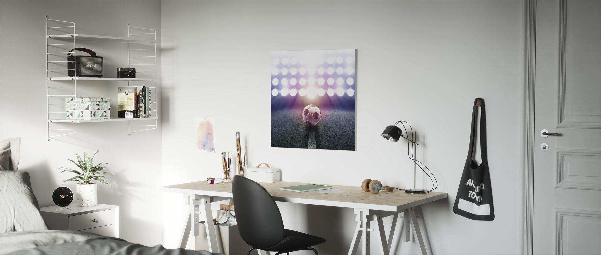 Spotlight Soccer - Canvas print - Kids Room