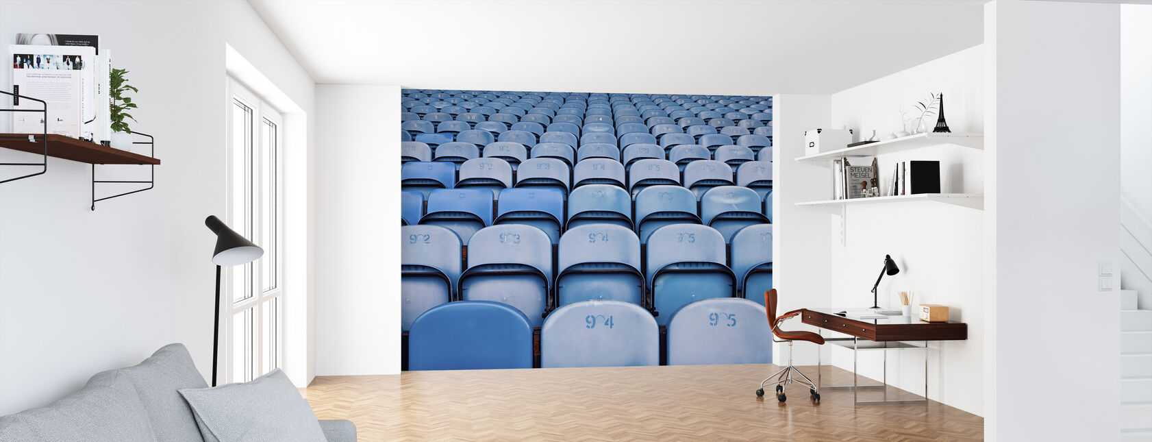 Blue Lighter Chairs - Wallpaper - Office