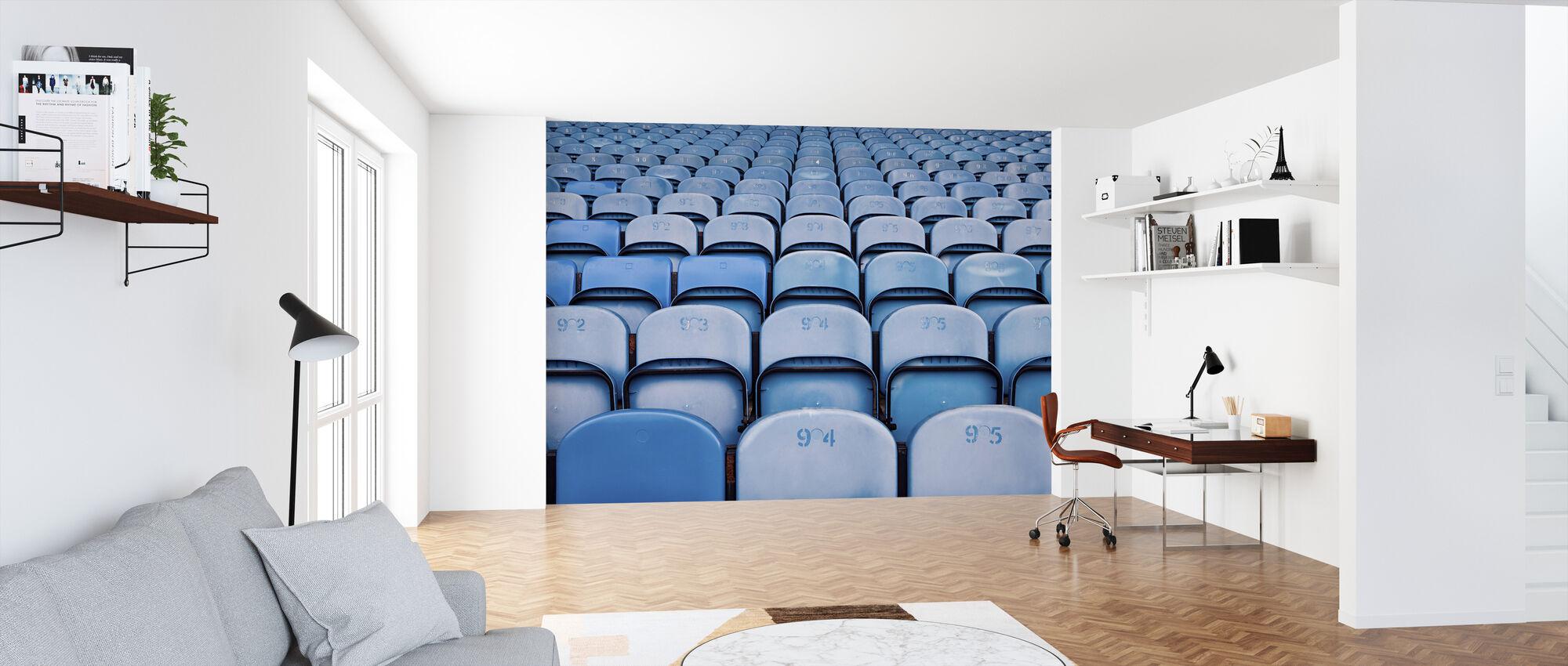 Blue Lighter Chairs - Wallpaper - Office