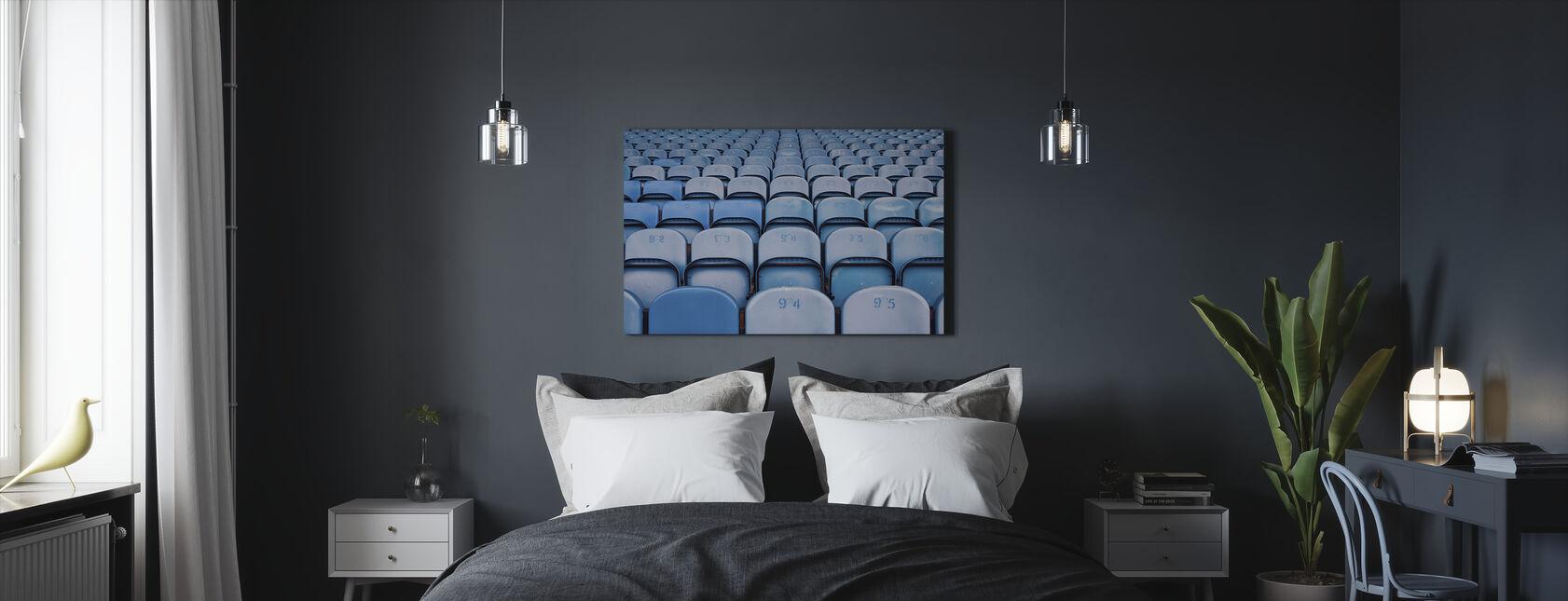 Blå Lighter Stole - Billede på lærred - Soveværelse
