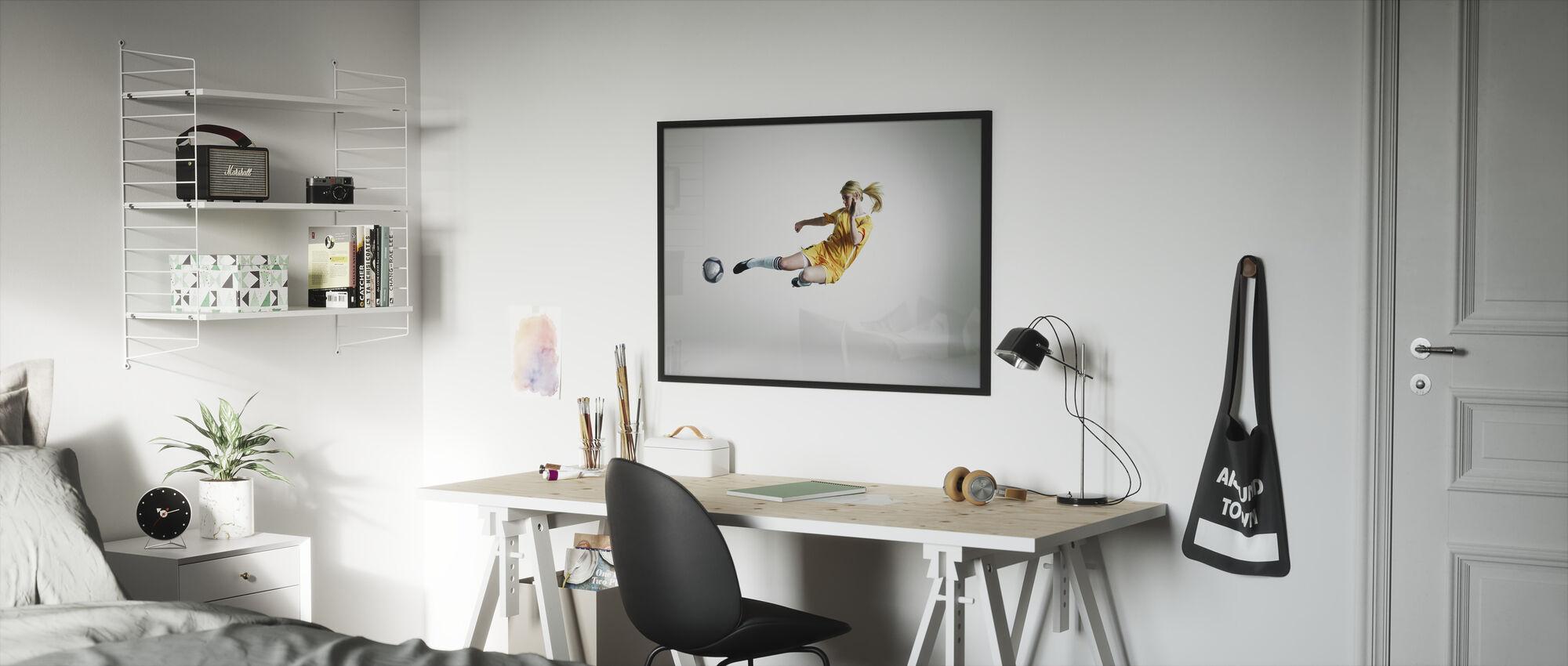 Skilled Player - Framed print - Kids Room