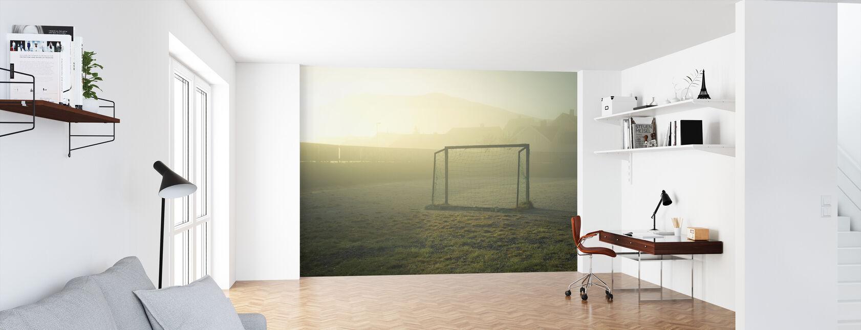 Soccer Field in Sunlight - Wallpaper - Office