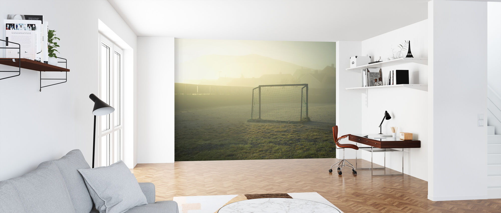 Soccer Field in Sunlight - Wallpaper - Office