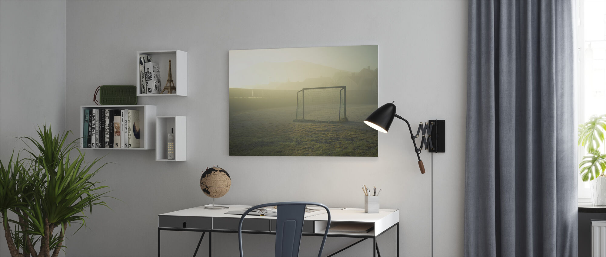 Soccer Field in Sunlight - Canvas print - Office