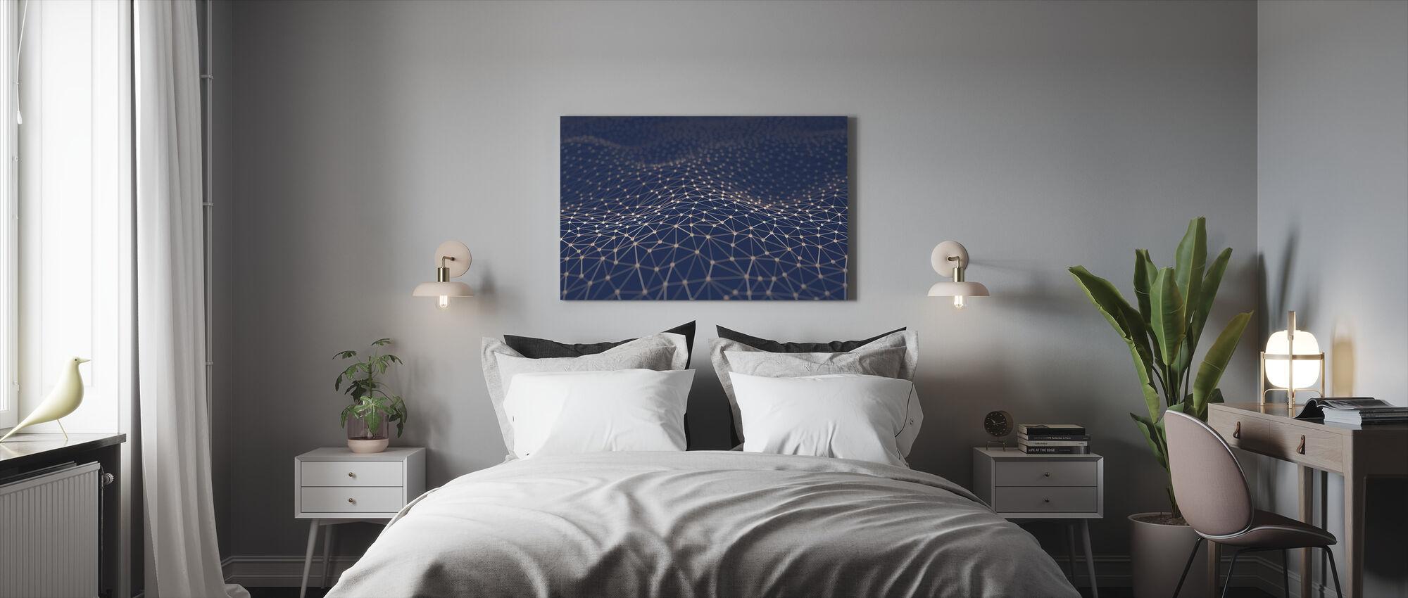 Interconnecting - Canvas print - Bedroom
