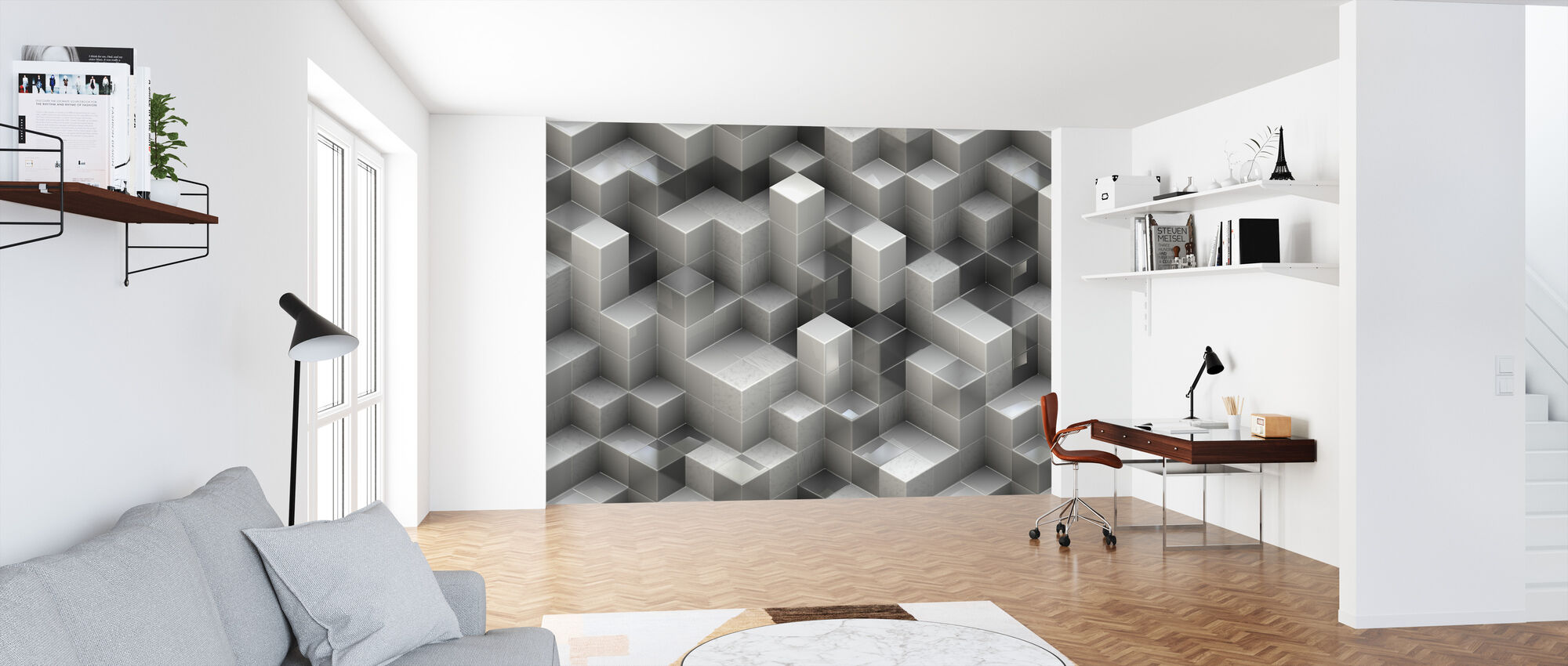 3D Construction - Wallpaper - Office