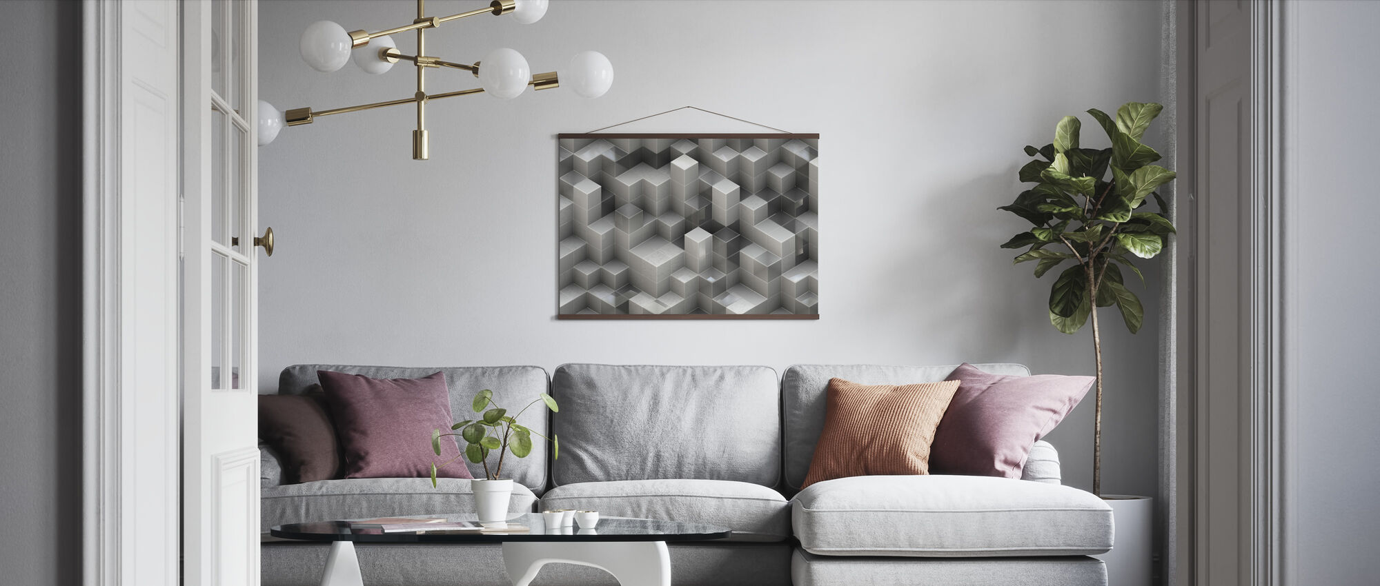 3D Construction - Poster - Living Room