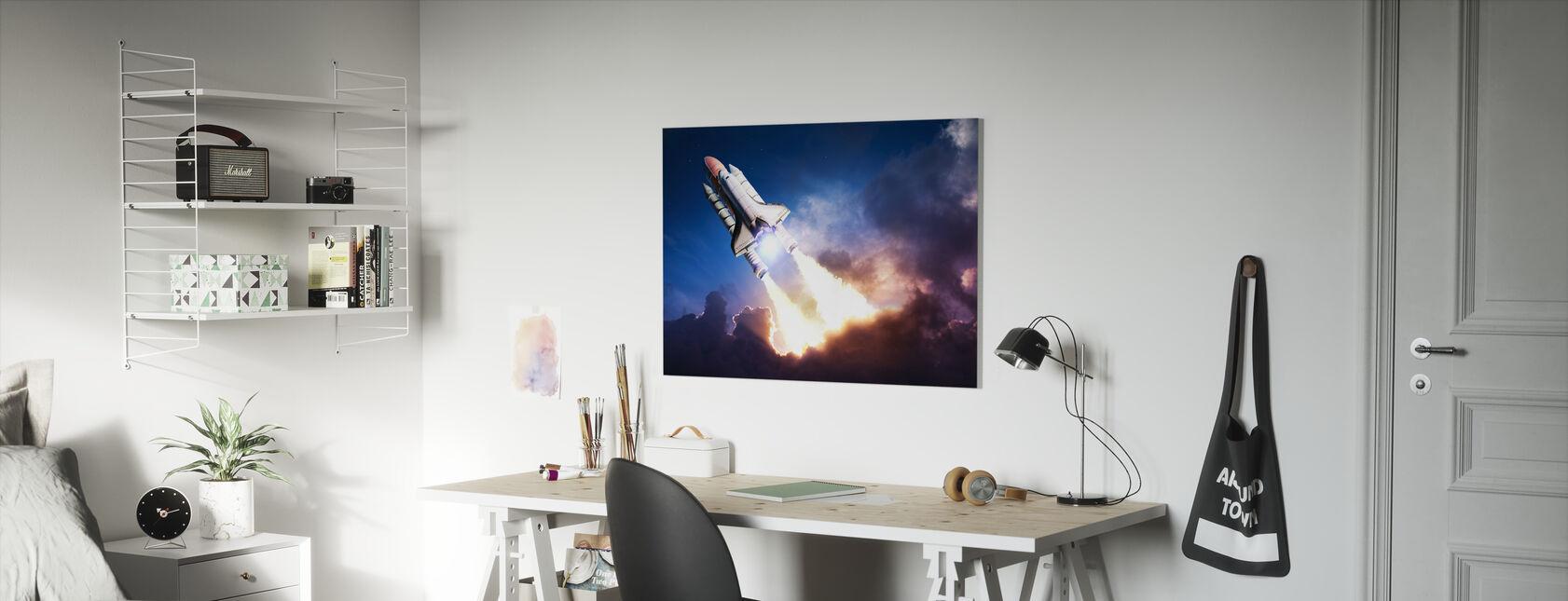 Space Adventure - Canvas print - Kids Room