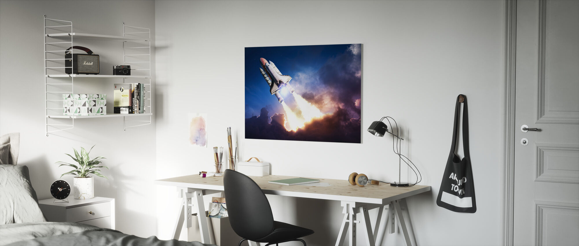 Space Adventure - Canvas print - Kids Room