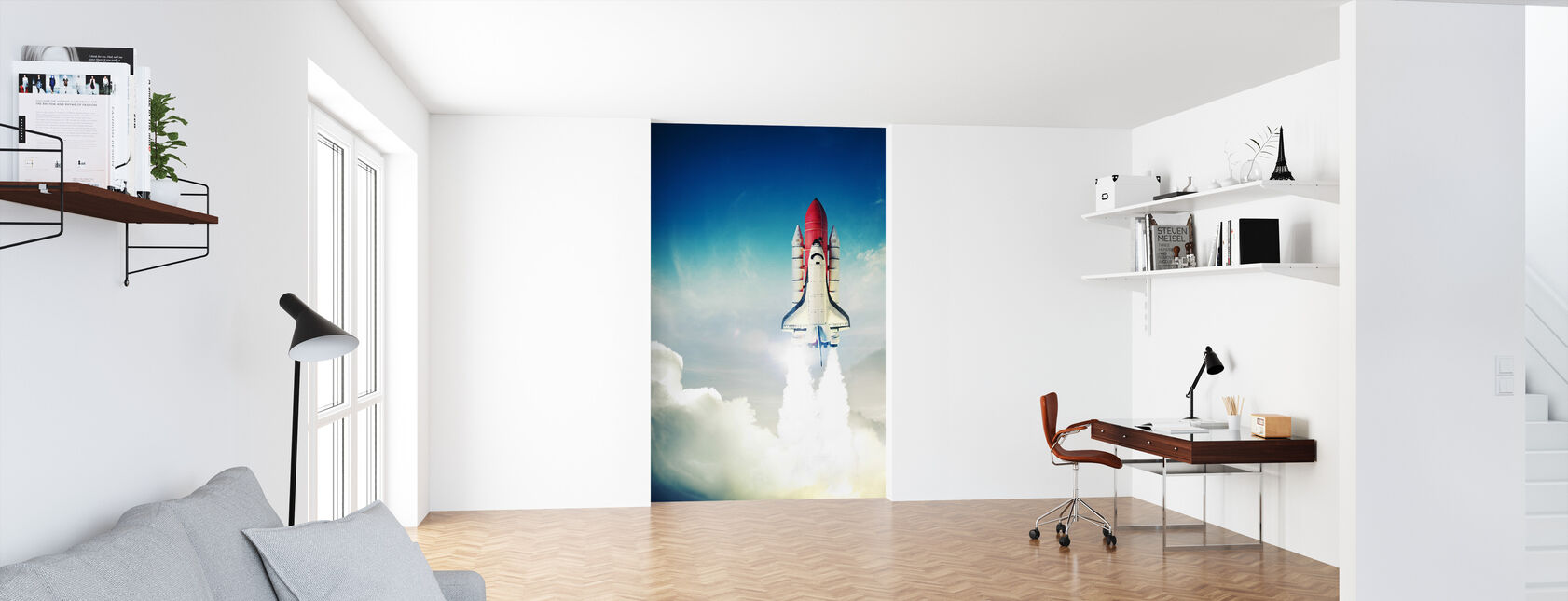 Space Shuttle opstijgen - Behang - Kantoor