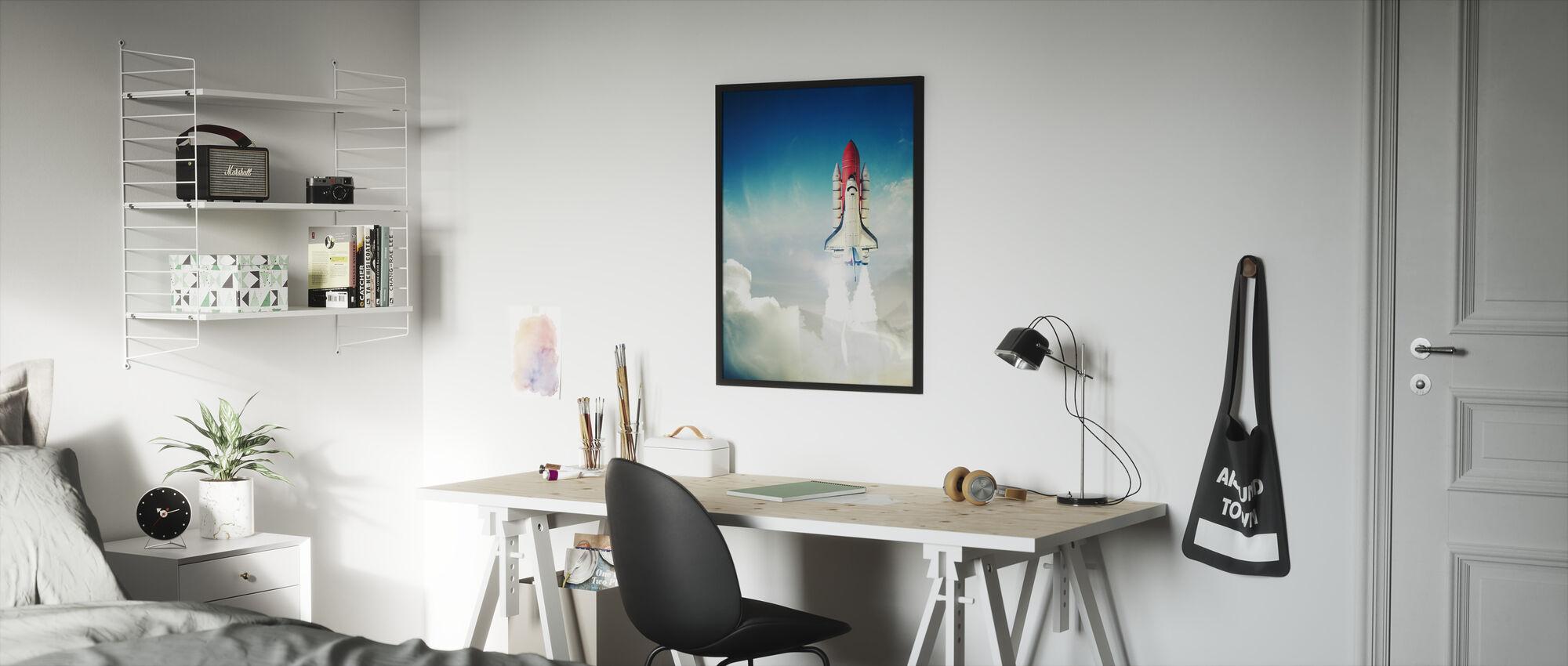 Space Shuttle Taking off - Framed print - Kids Room
