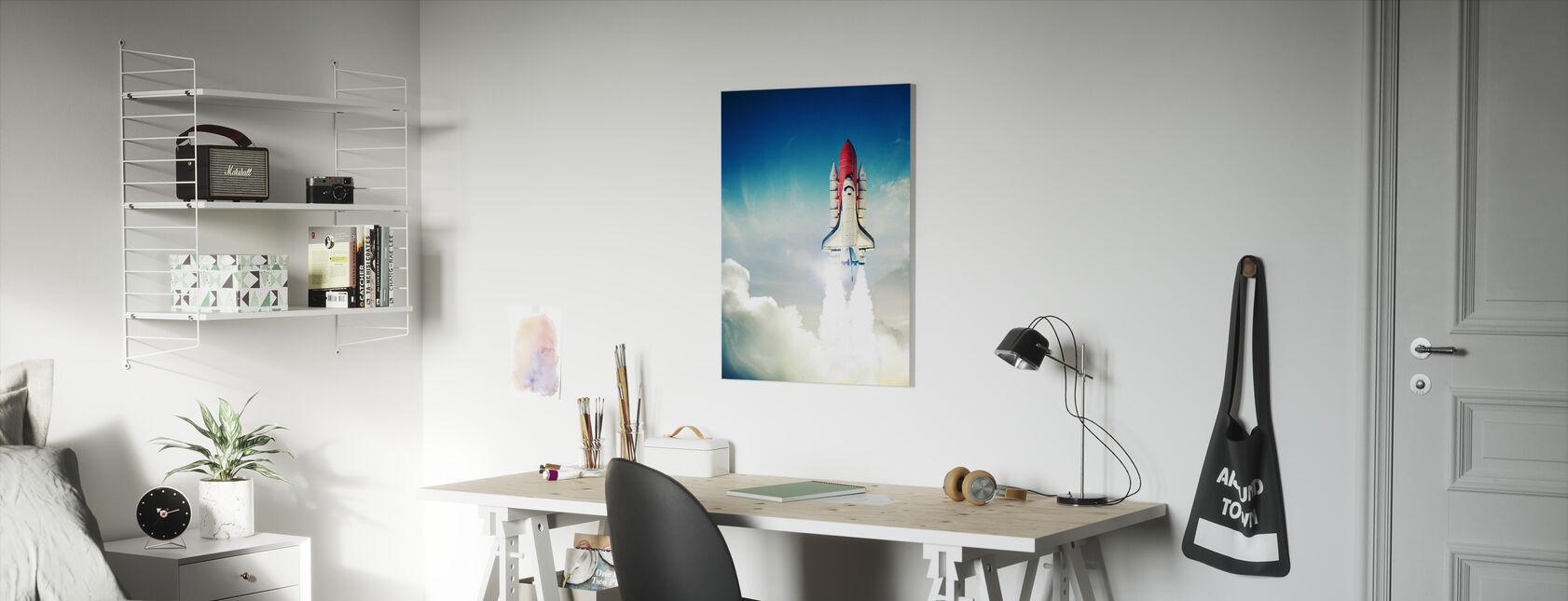 Space Shuttle opstijgen - Canvas print - Kinderkamer