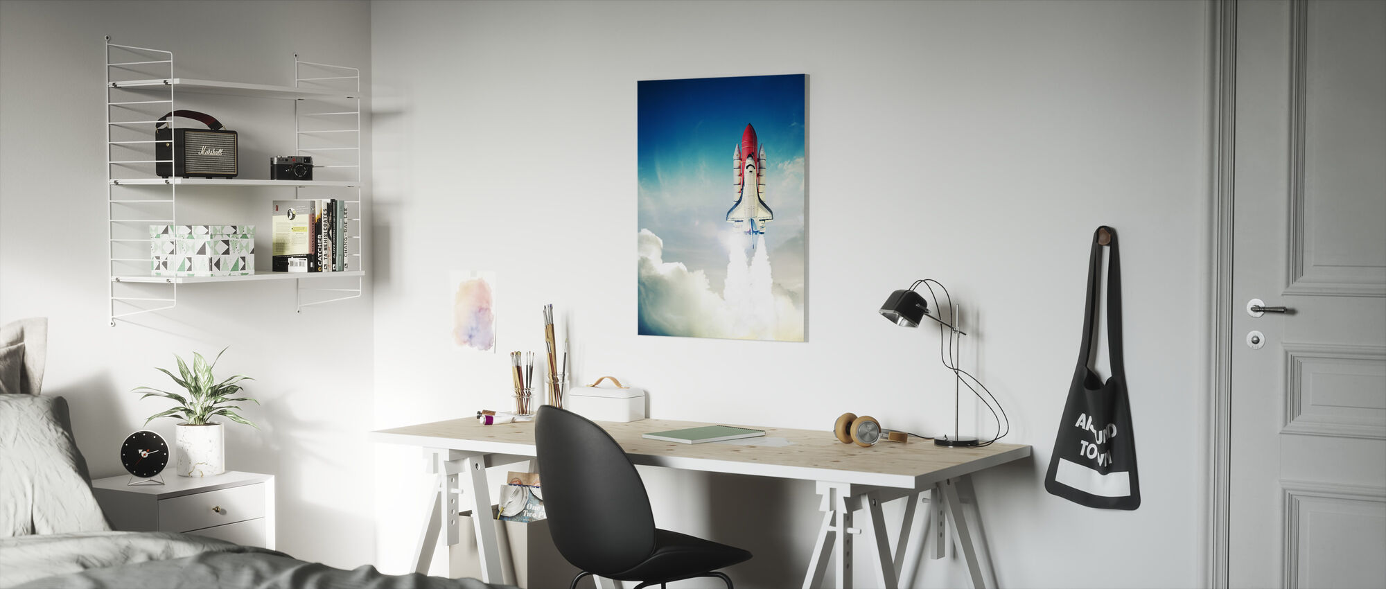 Space Shuttle Taking off - Canvas print - Kids Room