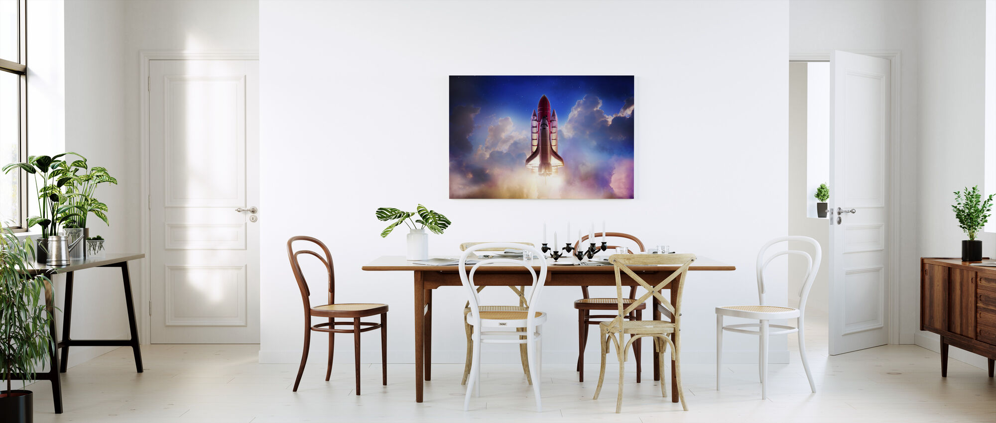 Dragkraft ut i rymden - Canvastavla - Kök
