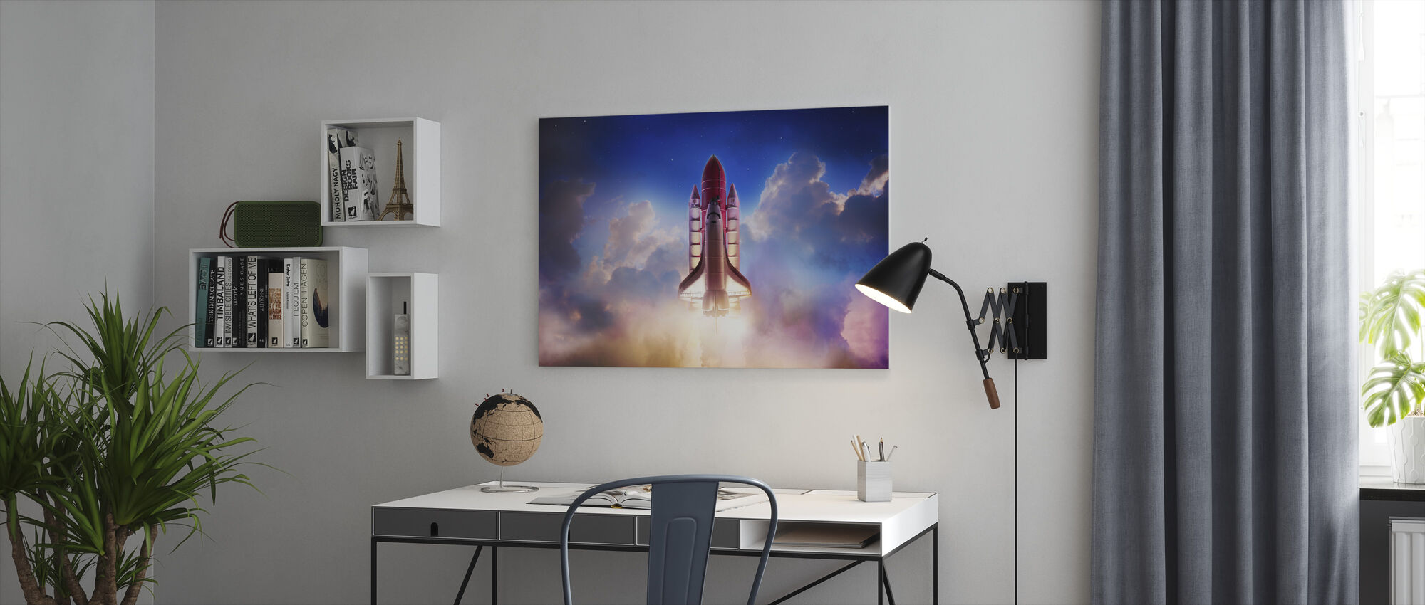 Thrust into Space - Canvas print - Office