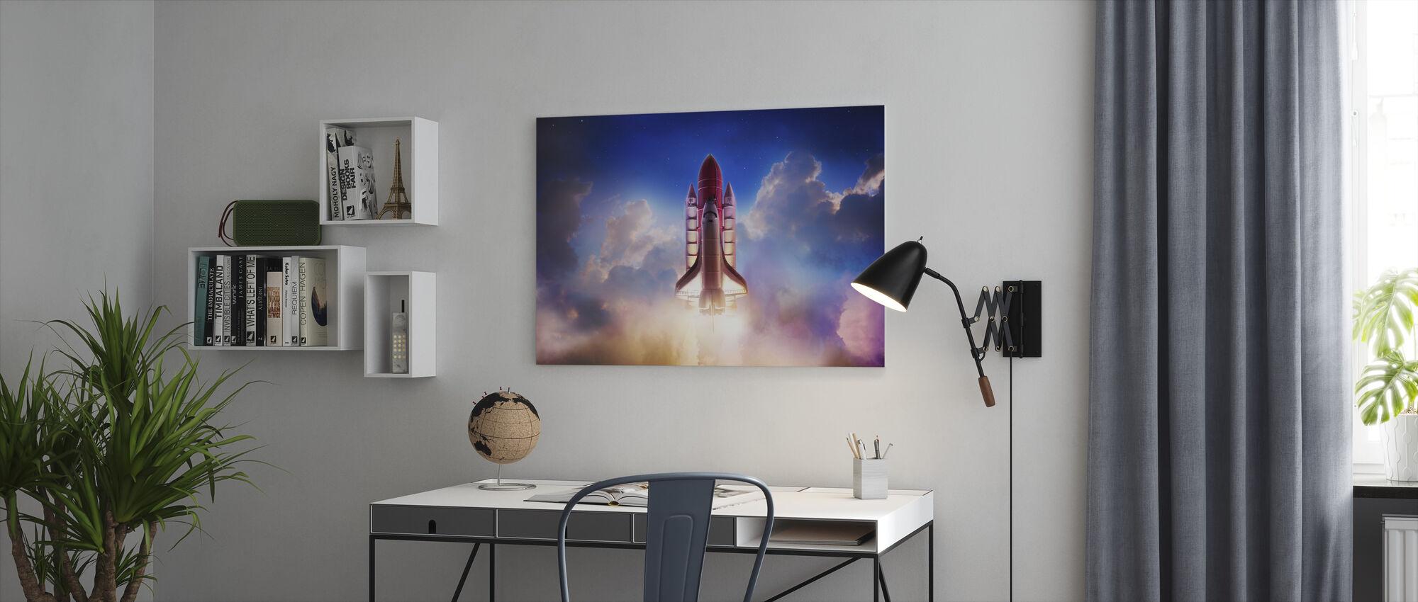 Dragkraft ut i rymden - Canvastavla - Kontor