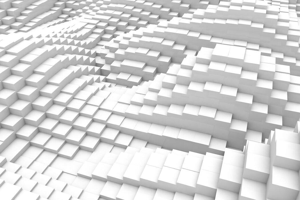 Stromende kubussen - Canvas print