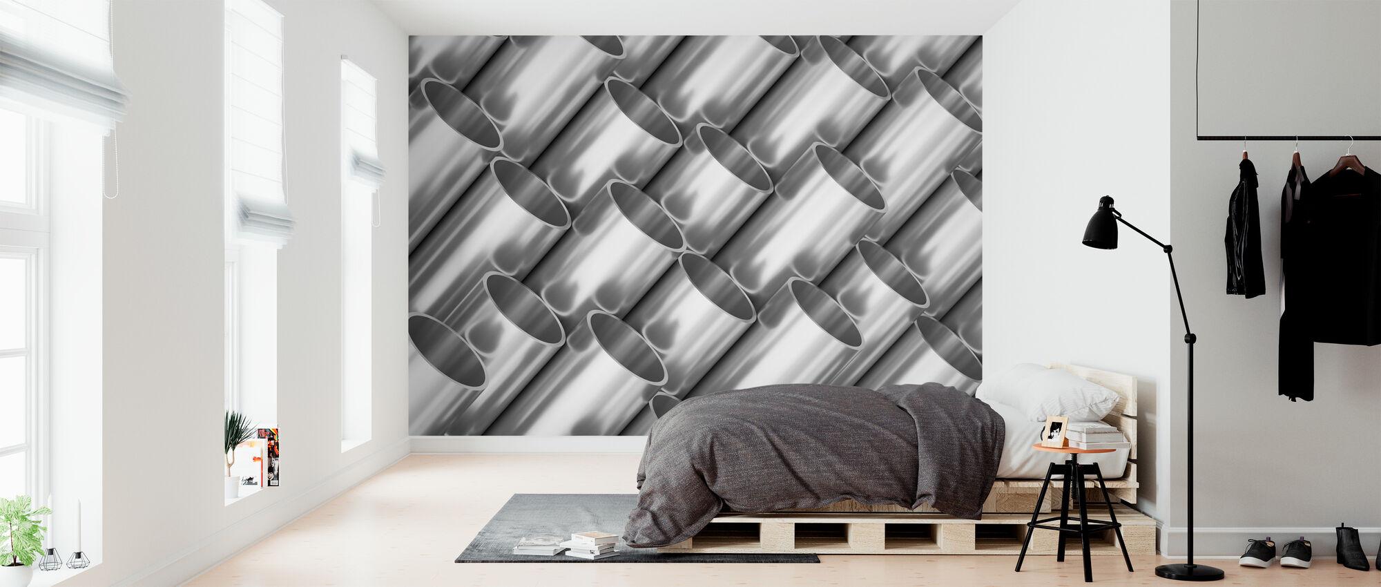 Metal Pipes - Wallpaper - Bedroom