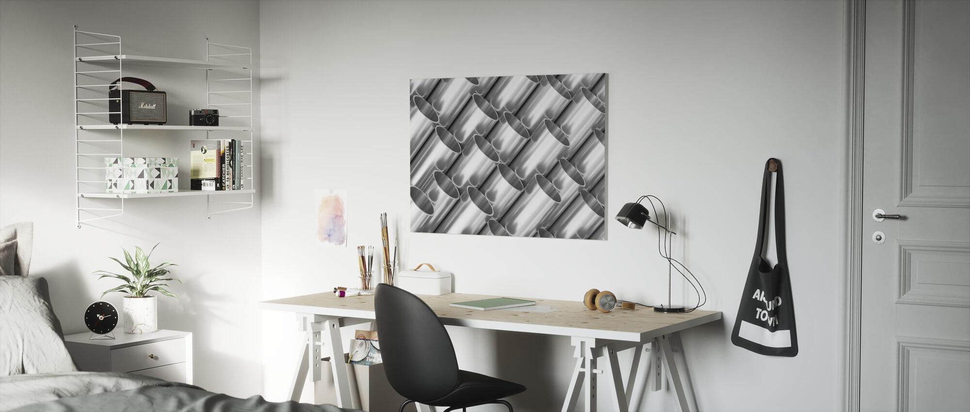 Metalen buizen - Canvas print - Kinderkamer