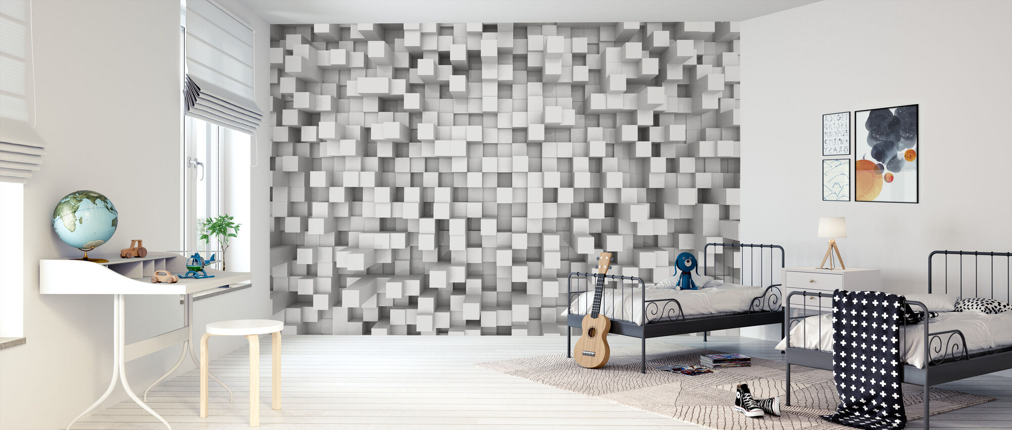 Tetris Pattern - Wallpaper - Kids Room