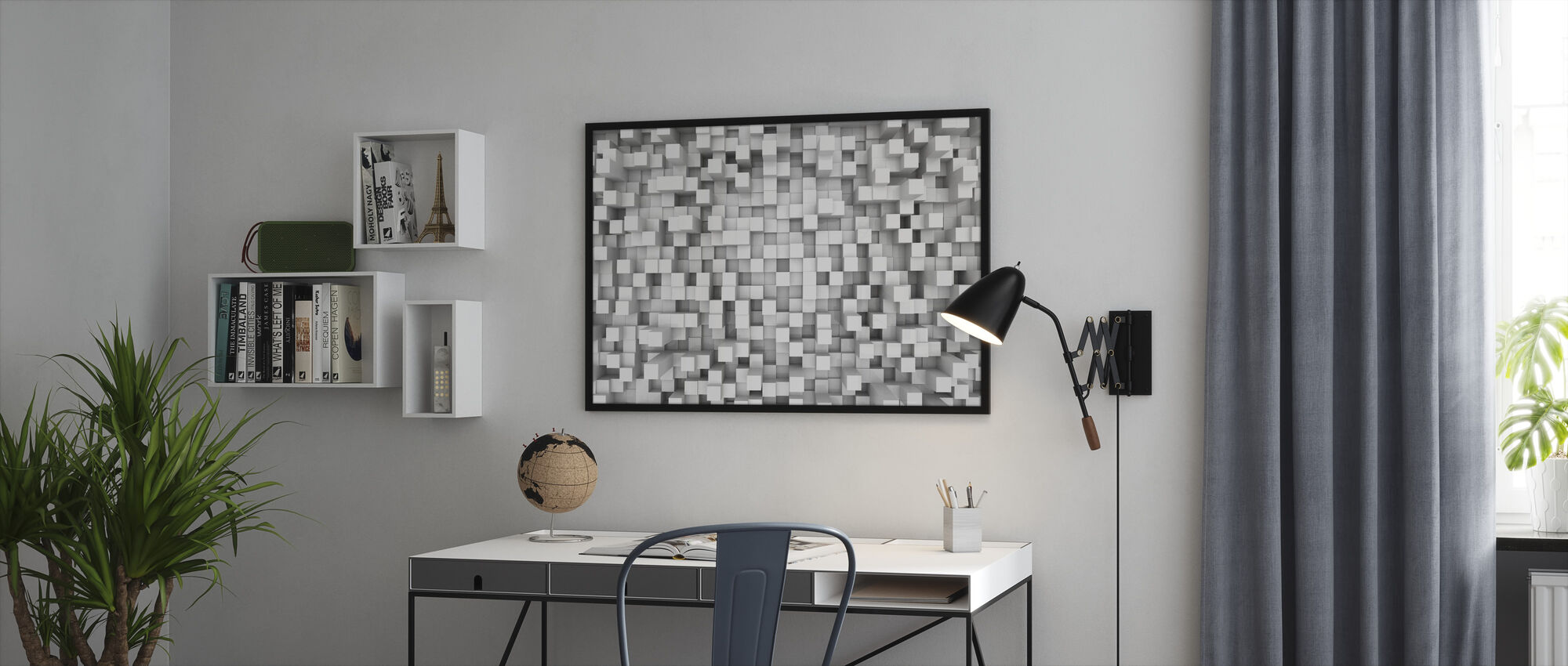 Tetris Pattern - Framed print - Office