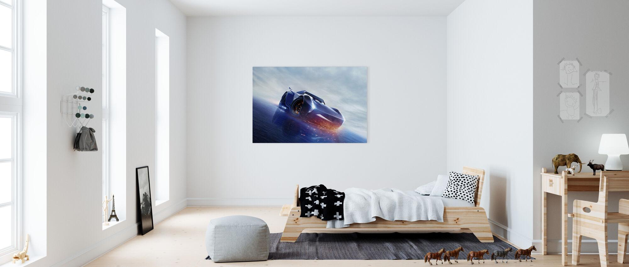 Autot 3 - Seuraavan sukupolven Racer - Jackson Storm - Canvastaulu - Lastenhuone