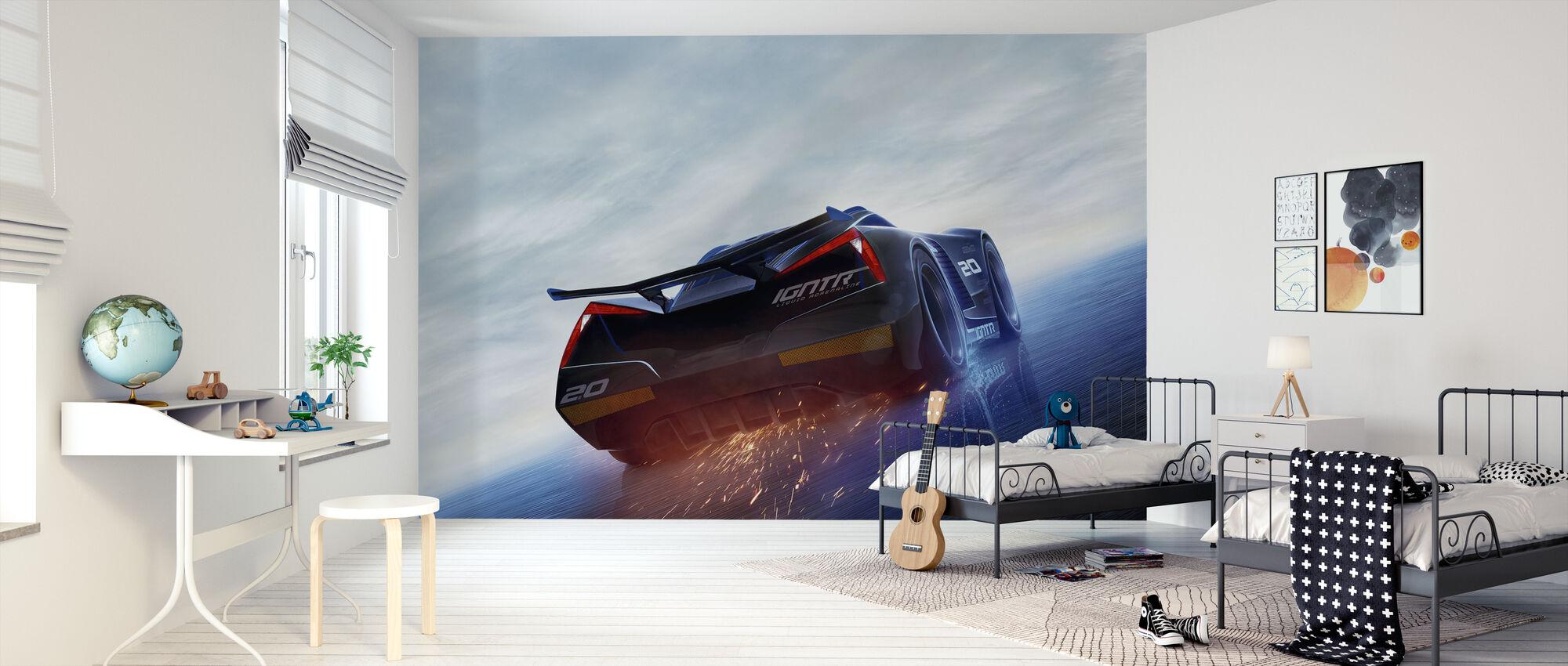 Biler 3 - Storm - Flydende Adrenalin - Tapet - Børneværelse
