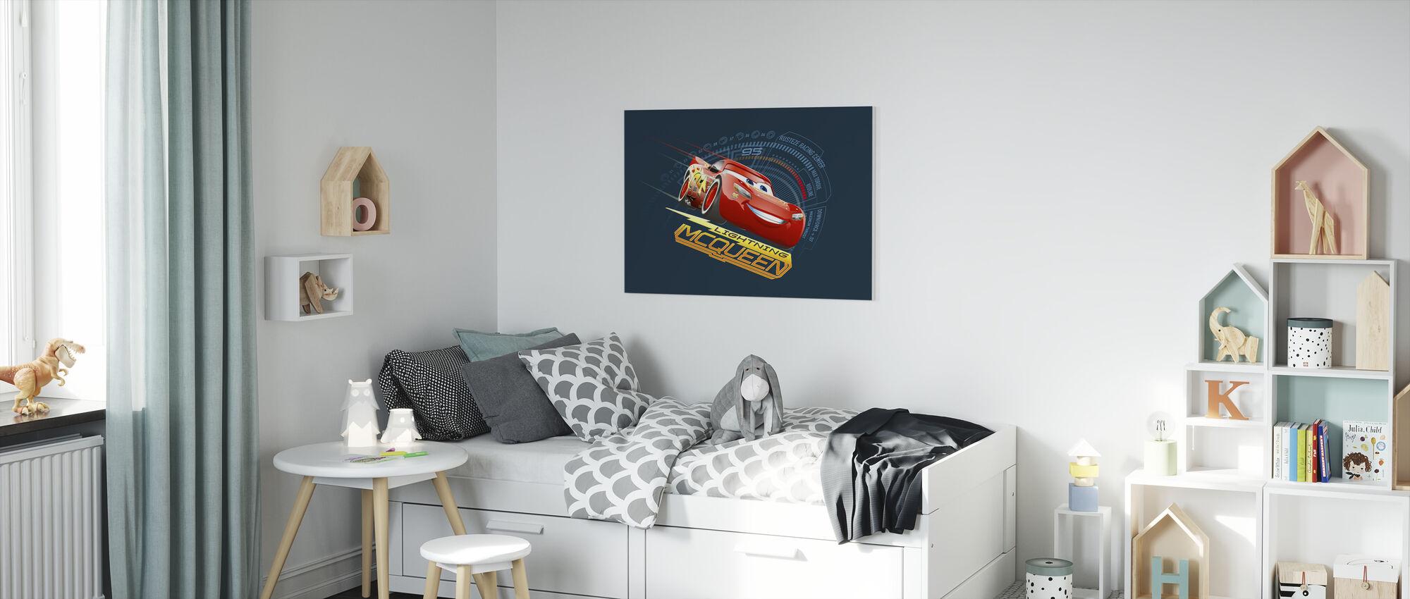 Bilar 3 - Blixten McQueen 95 - Canvastavla - Barnrum