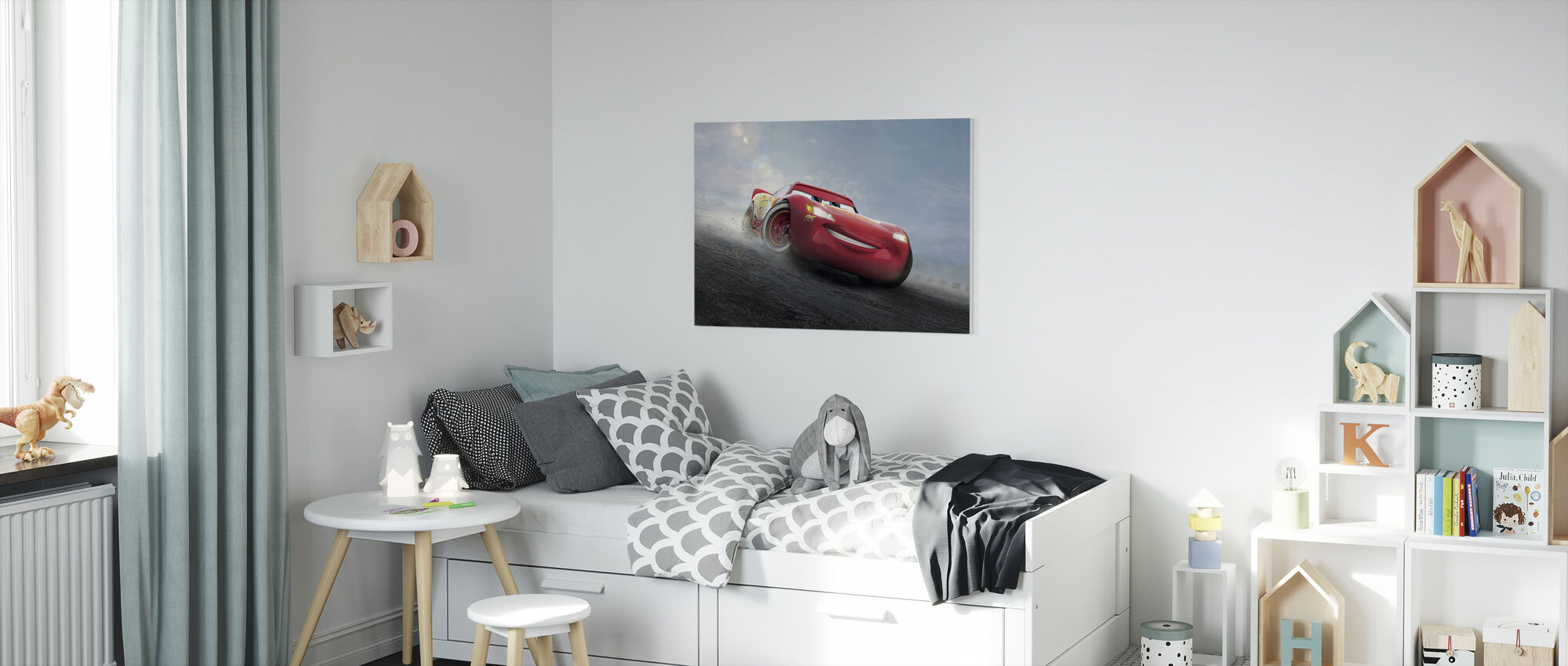 Biler 3 - Den legendariske lynet McQueen - Lerretsbilde - Barnerom