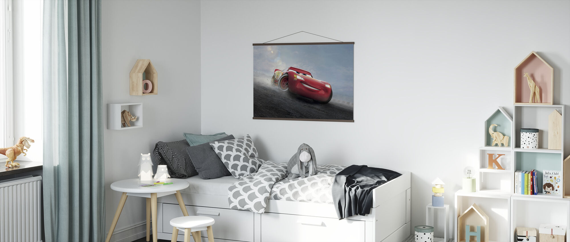 Biler 3 - Den legendariske lynet McQueen - Plakat - Barnerom