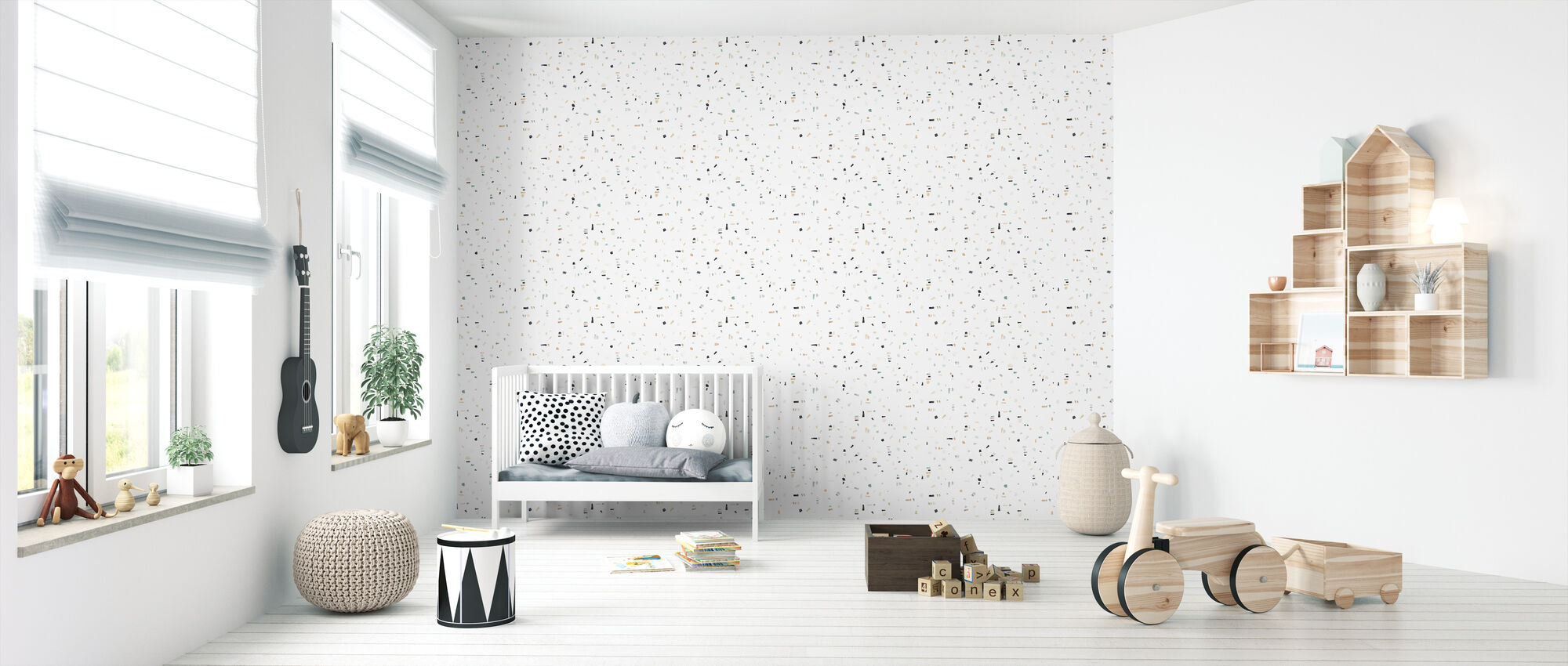 Affinity - Green - Wallpaper - Nursery
