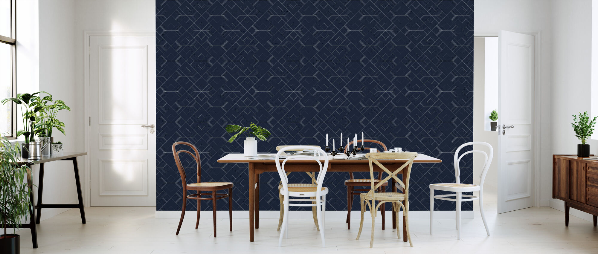Arrow - Blue - Wallpaper - Kitchen