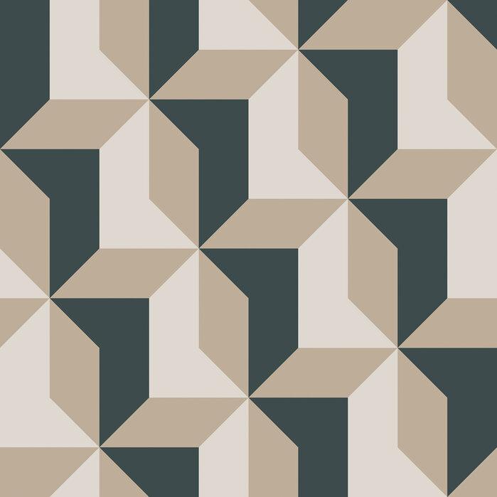 Blocks green papel pintado exclusivo y de alta calidad - Papel pintado exclusivo ...
