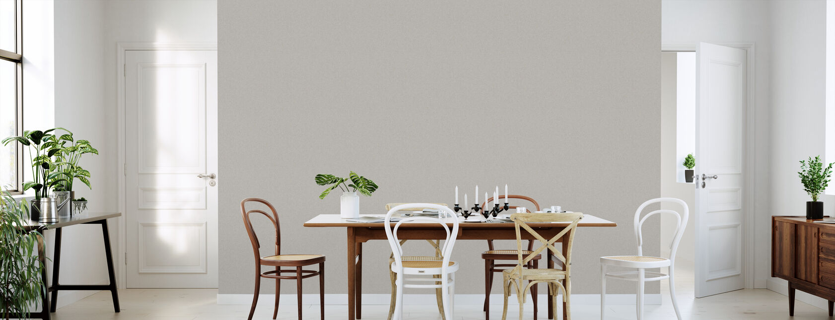 Fine Linen - Beige - Wallpaper - Kitchen