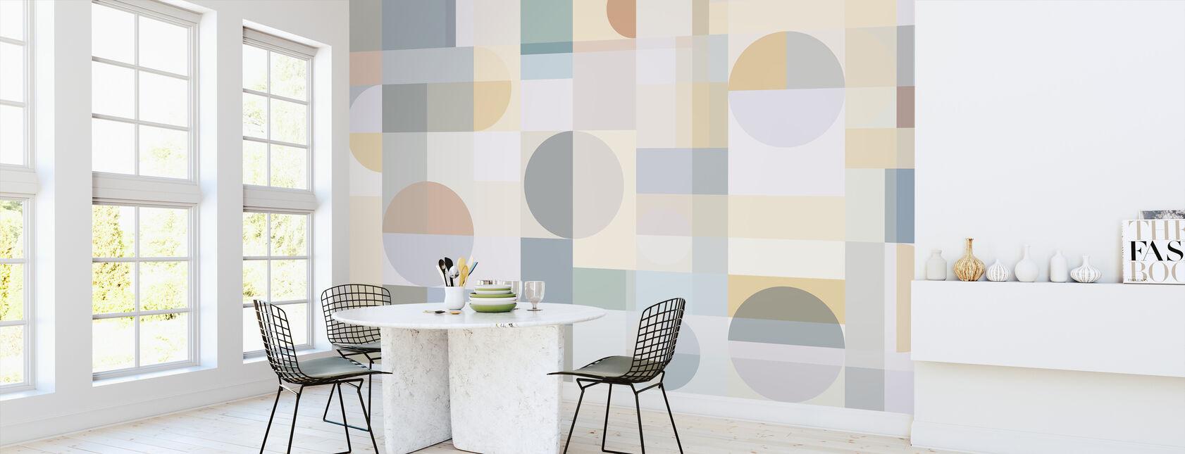 Geometry - Yellow - Wallpaper - Kitchen